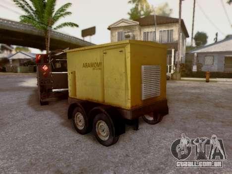 Trailer Generator para GTA San Andreas vista interior
