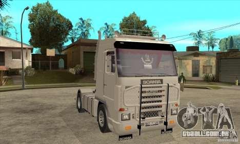 Scania 143M 500 V8 para GTA San Andreas vista traseira