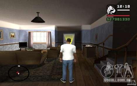 Calça jeans skinny para GTA San Andreas terceira tela