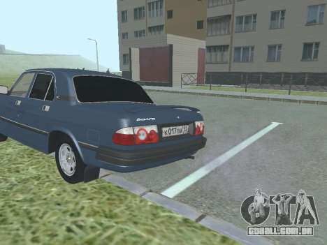 GAZ 3110 Volga v 1.0 para GTA San Andreas vista direita