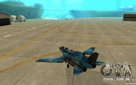 F-14 Tomcat Blue Camo Skin para GTA San Andreas vista direita