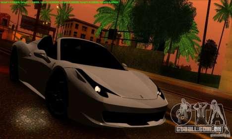 SA_gline 4.0 para GTA San Andreas por diante tela