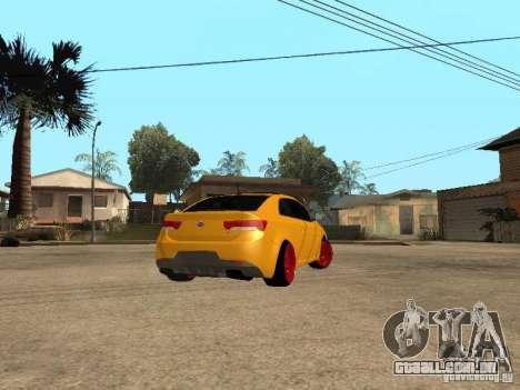 Kia Cerato Coupe JDM para GTA San Andreas esquerda vista