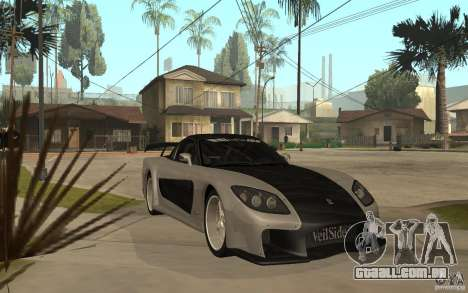 Mazda RX 7 VeilSide Fortune v.2.0 para GTA San Andreas vista traseira
