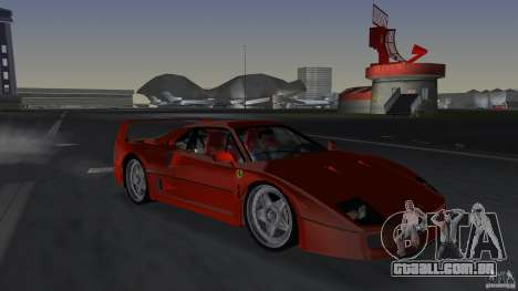 Ferrari F40 para GTA Vice City
