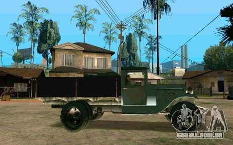 GAZ-AA para GTA San Andreas esquerda vista