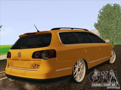 Volkswagen Passat B6 Variant para GTA San Andreas vista direita