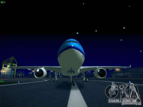 Airbus A330-200 KLM Royal Dutch Airlines para GTA San Andreas esquerda vista