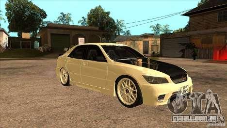 Toyota Altezza RS200 JDM Style para GTA San Andreas vista traseira