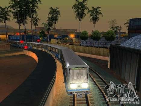 Novo sinal de trem para GTA San Andreas por diante tela