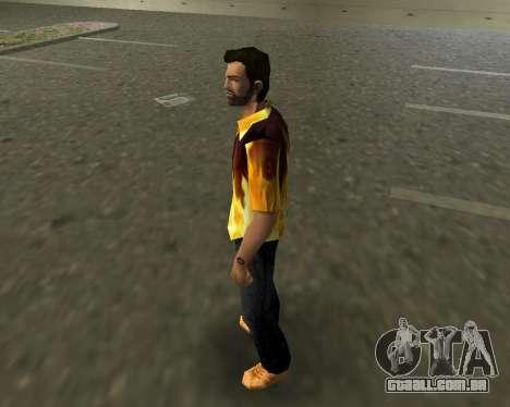 Camisa com chamas para GTA Vice City