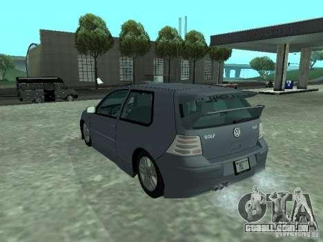 Volkswagen Golf IV para vista lateral GTA San Andreas