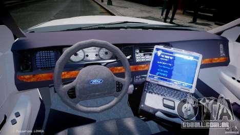 Ford Crown Victoria New Jersey State Police para GTA 4 vista de volta
