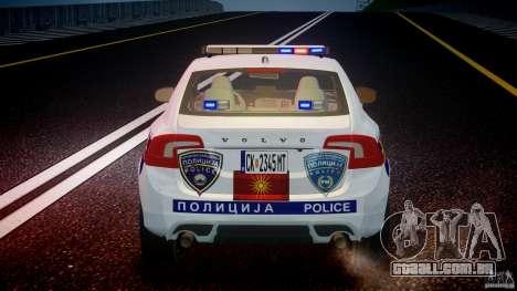 Volvo S60 Macedonian Police [ELS] para GTA 4 motor