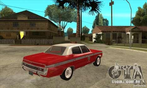 AMC Matador Taxi para GTA San Andreas vista direita