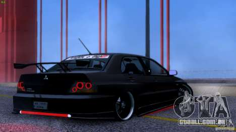 Mitsubishi Lancer Evolution 8 Drift para GTA San Andreas vista interior