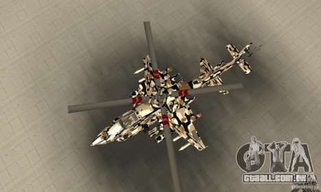 Hydra Hunter para GTA San Andreas vista direita