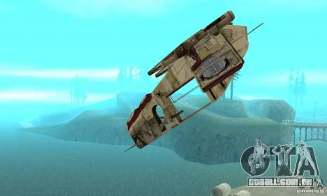 República Gunship de Star Wars para GTA San Andreas vista interior