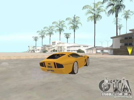 Ford Shelby GR1 para GTA San Andreas traseira esquerda vista