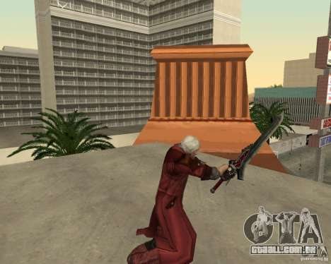 Nero sword from Devil May Cry 4 para GTA San Andreas por diante tela