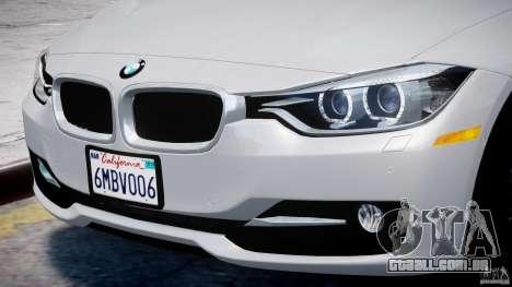 BMW 335i E30 2012 Sport Line v1.0 para GTA 4 rodas