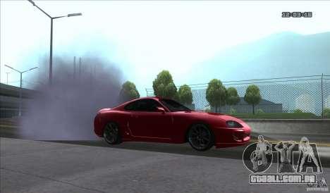 Toyota Supra Stance para GTA San Andreas traseira esquerda vista