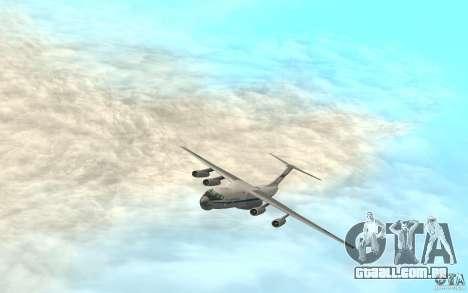 O IL-76 para GTA San Andreas traseira esquerda vista