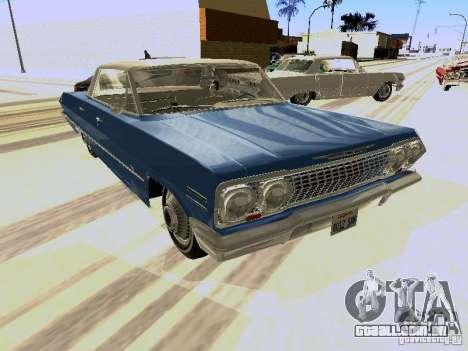 Chevrolet Impala 4 Door Hardtop 1963 para GTA San Andreas esquerda vista