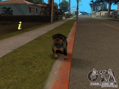 Animais para GTA San Andreas por diante tela