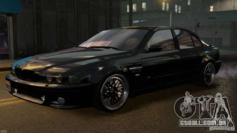 BMW M5 E39 BBC v1.0 para GTA 4 vista inferior
