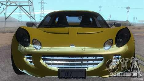 Lotus Elise para GTA San Andreas traseira esquerda vista