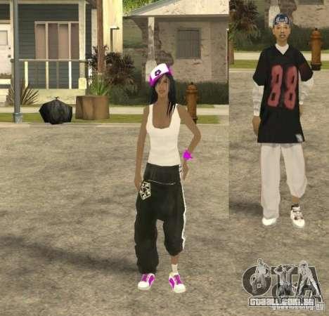 Skinpack Ballas para GTA San Andreas quinto tela