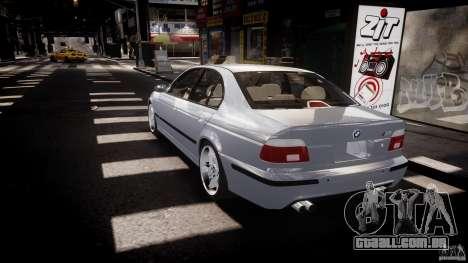 BMW M5 E39 Stock 2003 v3.0 para GTA 4 traseira esquerda vista
