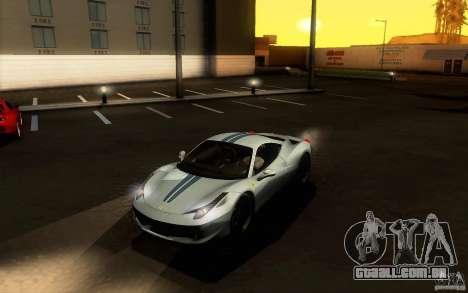 Ferrari 458 Italia Final para vista lateral GTA San Andreas