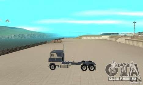 White Freightliner Extended Wheel Base para GTA San Andreas esquerda vista