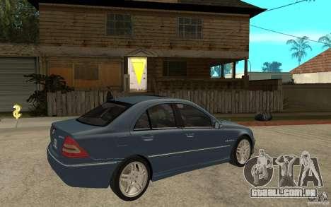 Mercedes-Benz C32 AMG 2003 para GTA San Andreas vista direita