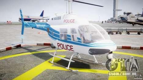 Bell 206 B - Chicago Police Helicopter para GTA 4 vista de volta
