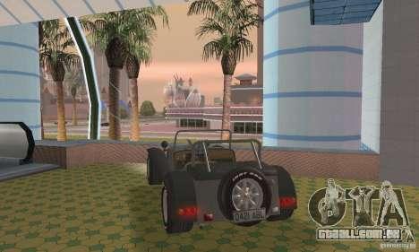 Lotus Seven para GTA San Andreas esquerda vista