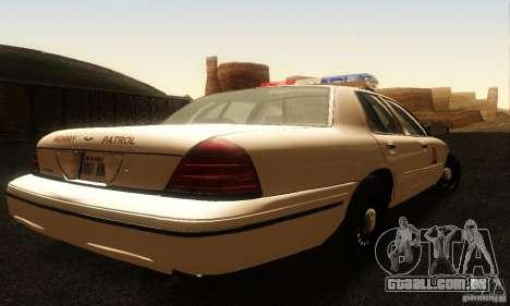 Ford Crown Victoria Utah Police para GTA San Andreas esquerda vista