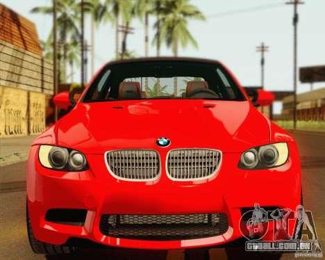 BMW M3 E92 v2.0 para GTA San Andreas vista interior