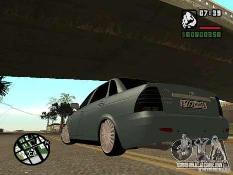VAZ-2170 para GTA San Andreas esquerda vista