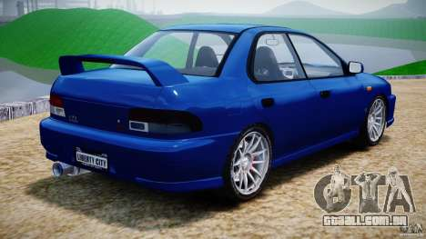 Subaru Impreza WRX STI 1999 v1.0 para GTA 4 traseira esquerda vista