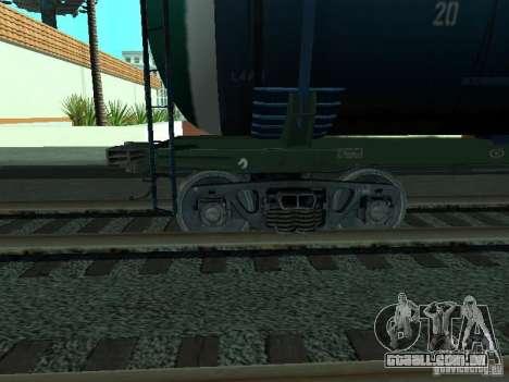 Vagão-cisterna para GTA San Andreas vista direita