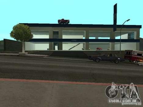 Auto Show Ford para GTA San Andreas por diante tela
