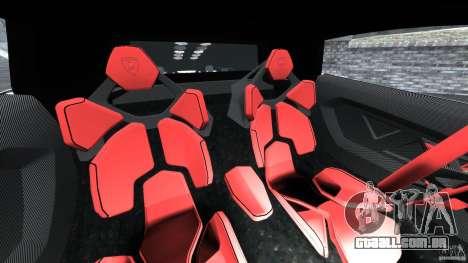 Lamborghini Sesto Elemento 2011 Police v1.0 ELS para GTA 4 vista interior
