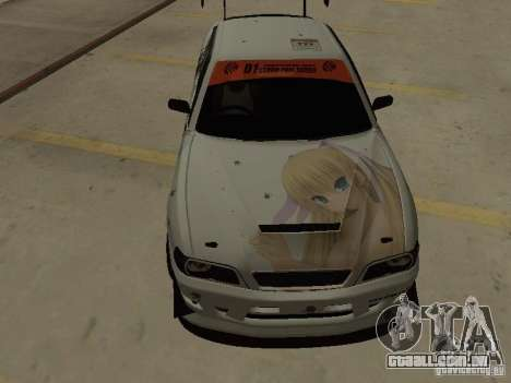Toyota Chaser JZX100 Tuning by TCW para GTA San Andreas vista interior