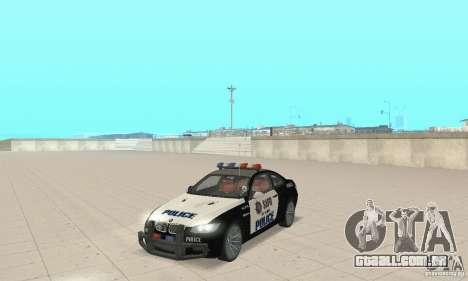 BMW M3 E92 Police para GTA San Andreas