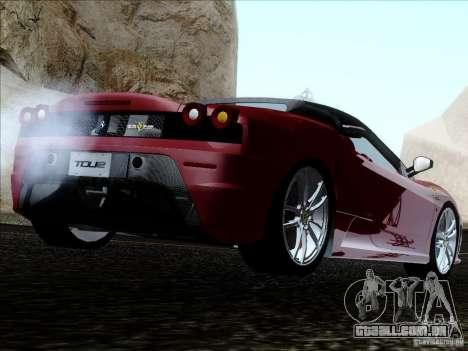 Ferrari F430 Scuderia Spider 16M para GTA San Andreas esquerda vista