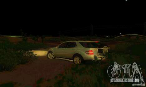 Mercedes-Benz ML500 para GTA San Andreas vista interior