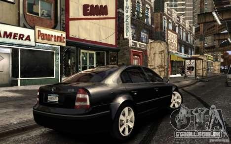 Skoda SuperB para GTA 4 vista superior